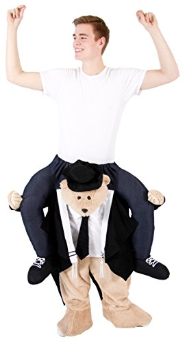 Piggyback Ride On Jewish Rabbi Bear Costume (Standard)]()