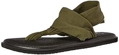 Sanuk Women's Yoga Sling 2 Flip Flop (05 M US, Dark Olive)