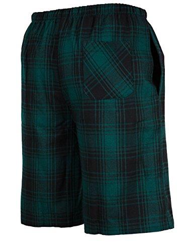 Andrew-Scott-Mens-3-Pack-Light-Weight-Cotton-Flannel-Soft-Fleece-Brush-Woven-PajamaLounge-Sleep-Shorts