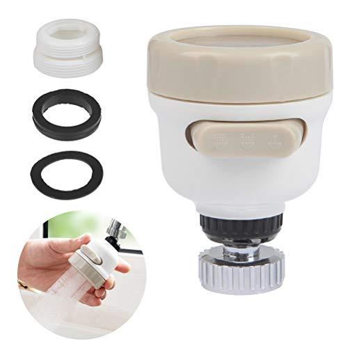 OFNMY Bulfyss 360 Degree Rotating Water-Saving Sprinkler, Faucet Aerator, 3-Gear Adjustable Head Nozzle Splash-Proof…