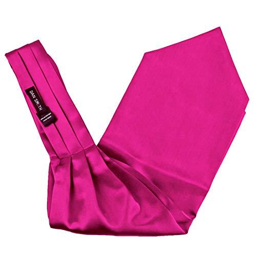 Dan Smith C.C.AQ.C.018 Ascot Tie Medium Violet Red Satin Business- Casual Cravat