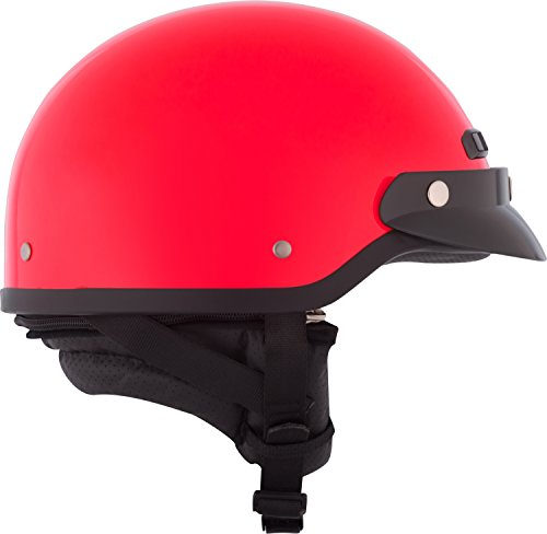 CKX 345506 VG-500 Riding Half Helmet, Red, Large