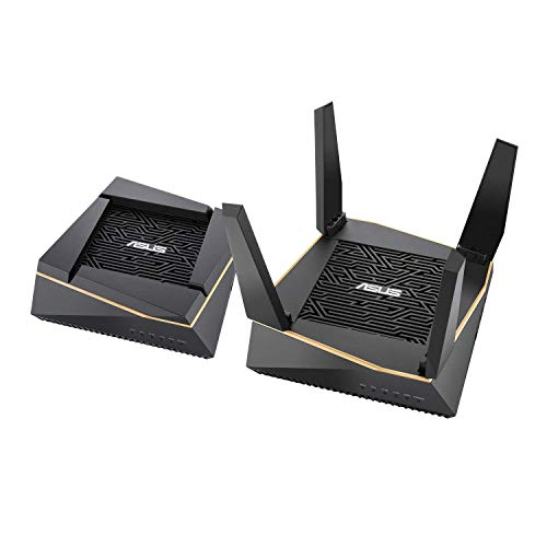(ASUS AX6100 WiFi Tri-Band Mesh Routers - Whole Home WiFi Mesh System with 802.11Ax (WiFi 6) Ax Technology Includes Ofdma and MU-Mimo (RT-AX92U 2 Pack))