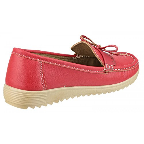 Amblers Elba Ladies Summer Shoe Red Red Size 40