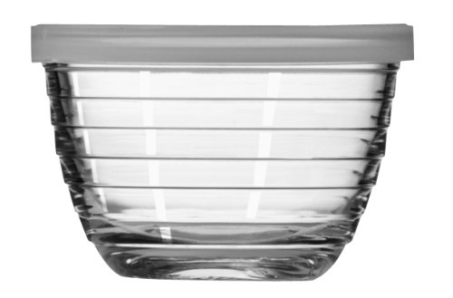 Libbey 6-1/2-Ounce Small Bowl with Plastic Lid, Set of 12