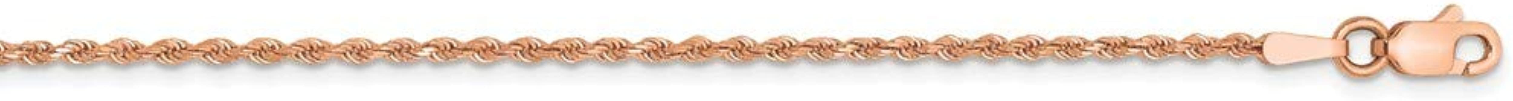 14k Sparkle-Cut Cable Chain Necklace in Yellow Gold Rose Gold White Gold Choice of Lengths 16 18 20 24 22 30 14 26 and Variety of mm Options