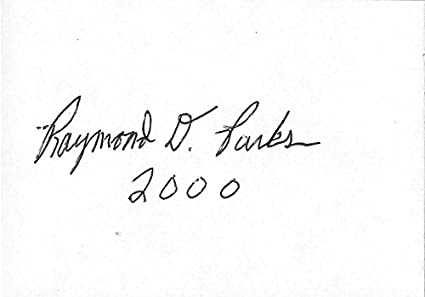 Autographed Raymond D Parks 2000 Vintage And Original Early Nascar