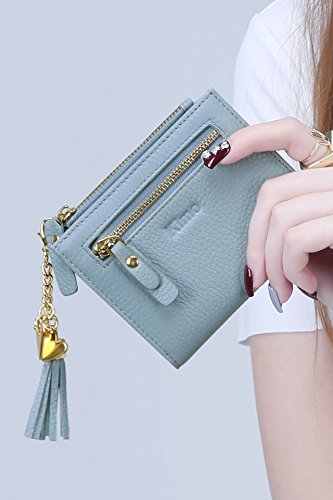 Price comparison product image Generic The new European and American fashion ladies short section of small leather purse wallet minimalist wallet leather zipper pendant tassels