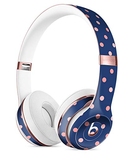 Multicolor Coral Dots Over Navy Blue Pattern DesignSkinz Full-Body Skin Kit for The Beats by DRE Solo 3 Wireless Headphones/Ultra-Thin/Matte Finished/Protective Skin Wrap by iiRov