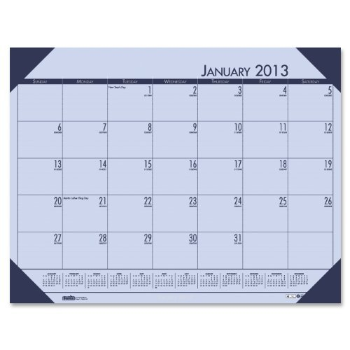 House of Doolittle EcoTONES Monthly Desk Pad Calendar, 4-Corner Holder, January-December, 2013, 22 x 17, Sunset Orchid by House of Doolittle (Desk Ecotones Monthly Calendar Pad)