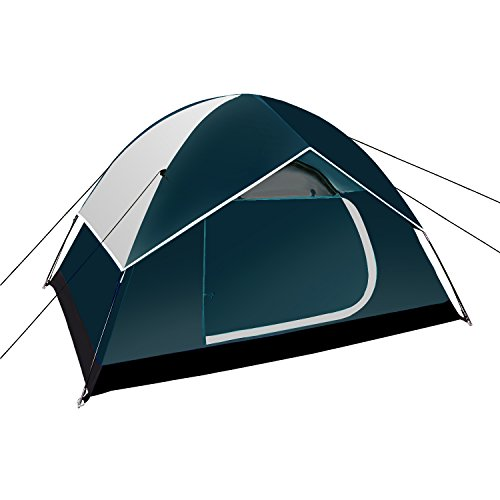 Neewer Backpacking Tents Outdoor Sports Tent – Compact Lightweight 2 to 3 person Pop-up Shelter for Camping Hiking Beach Park Mountain Area with Zippered Carrying Bag, 83x59x47 inches Dark Blue Gray