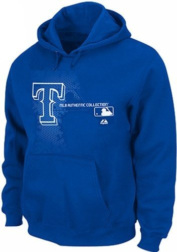 Majestic Texas Rangers Authentic On Field Performance Hoodie Big & Tall Sizes (3XL)