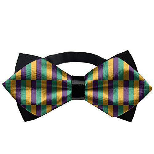 Men's Pre Tied Bow Tie, Adjustable Tuxedo Bow Tie, Paisley Neckties, Wedding, Party, Formal Events, Fancy Plain Casual and Formal Ties, Mardi Gras -