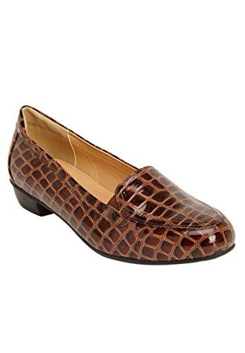 Comfortview Womens Wide Devon Flats Brown