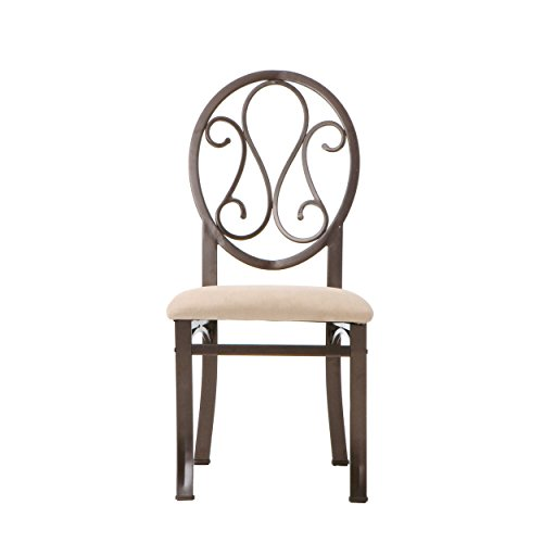 Lucianna Dining Chairs – Set of 4 – Dark Brown Frame w Beige Suede Seat