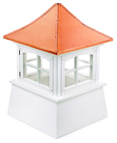 Good Directions 2118WV Windsor PVC Vinyl Cupola with Polished Copper Roof, 18-Inch x 25-Inch by Good Directions (Image #1)