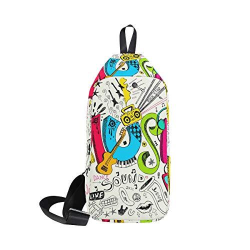 One Shoulder Music Doodle For Bennigiry Bags Chest Backpack Bag amp; Men Crossbody Sling Women qYxBdwdfX