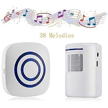 Amazon.com: Door Chime,Wireless Business Door Motion ...