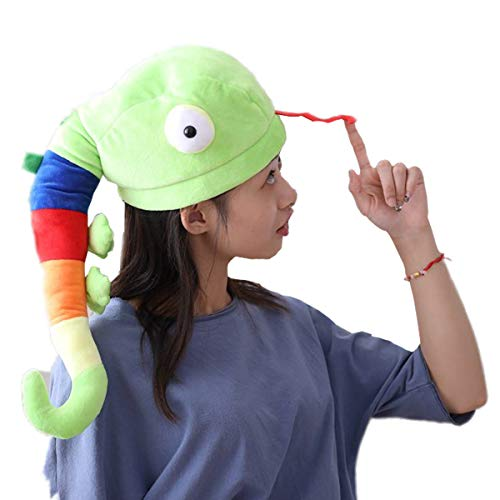 Happy Easter Costume - Funny Plush Worm Caps Hat Animal Head Cover Mask Headgear Hood Clothing Costume Accessories Toys Gift Cosplay Halloween Christmas Easter Party Kids Adult Children Women Girl Girlfriend Birthday