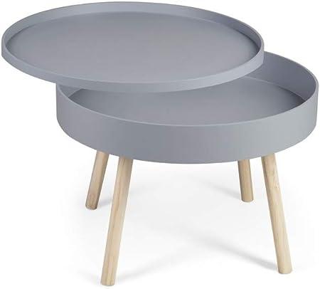 Lifa Living Table Basse Salon Grise Table Basse Ronde Avec