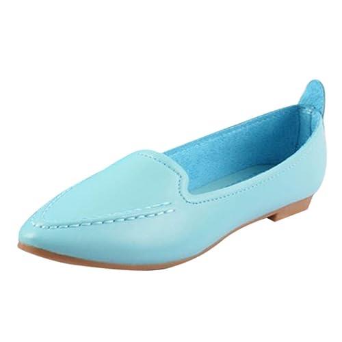 Zapatos Mocasines CóModos para Mujer Cuero SóLido Punta para Pies Zapatos Ocasionales Planos Mocasines Zapatos Trabajo: Amazon.es: Zapatos y complementos