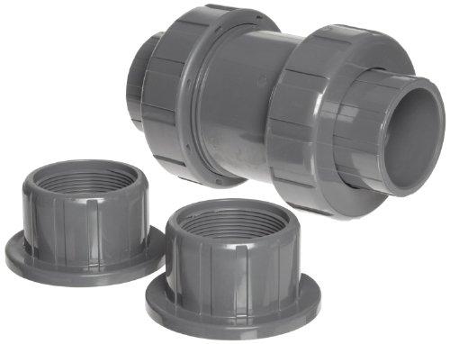 (Hayward TC20150STE Series TC True Union Ball Check Valve, Socket/Threaded End, CPVC with EPDM Seals, 1-1/2