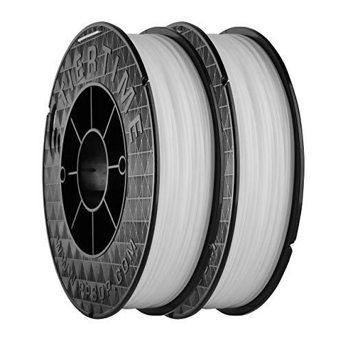 UP Fila Premium ABS 3D Printer Filament, Low Odor, Consistent 1.75mm Diameter,1KG (500g×2 Spools), White