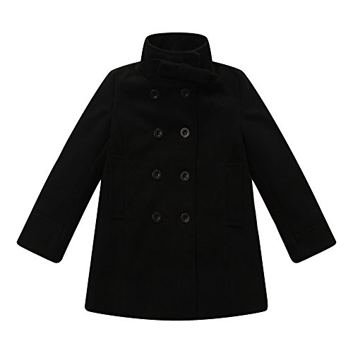 Richie House Girl's Black Fold-over Coat size 4-5 (Fold Over Collar Coat)