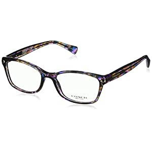Coach Women's HC6065 Eyeglasses Confetti Purple 51mm