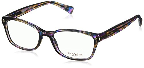 Coach Women's HC6065 Eyeglasses Confetti Purple - Eyeglasses Coach Tortoise