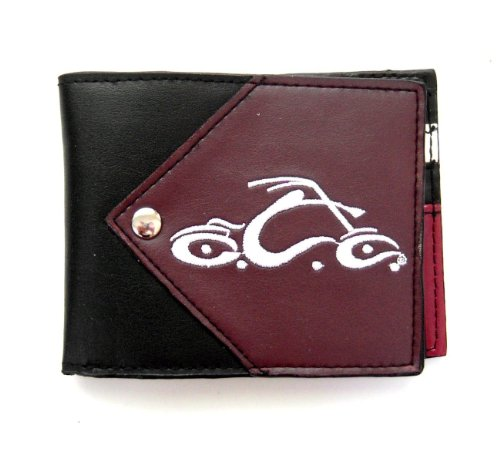 - Orange County Choppers Embroidered Bike Faux Leather Bi-Fold Wallet