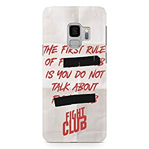 Loud Universe White And Red First Rule of Fight Club Samsung S9 Case with 3d Wrap around Edges Fight Club Phone Case