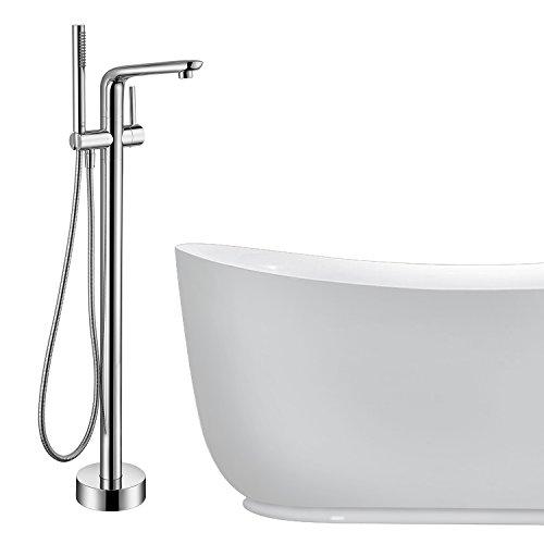 Floor Mounted Bathtub Faucet Set - Doris FA003 Free Standing Clawfoot Faucet Kit for Bathroom Bathtub with Hand Held Shower Head,Chrome