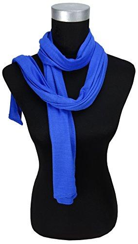 Echarpe en bleu unicolor - taille 185 x 38 cm