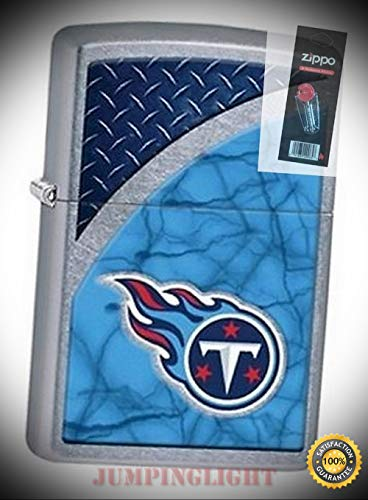 29381 Tennessee Titans NFL Street Chrome Finish Lighter with Flint Pack - Premium Lighter Fluid (Comes Unfilled) - Made in USA!