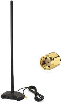 Bingfu Antena 4G LTE Antena WiFi Base de Montaje magnética 15dbi Omni-Direccional Antena con Adaptador RP-SMA 2.5m 8.2 ft Cable de Extensión para ...