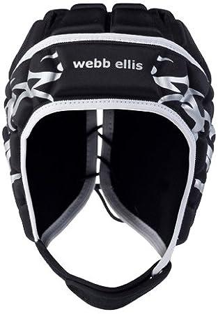 Webb Ellis Spectral Maori Headguard - Casco de rugby, color negro, talla X-