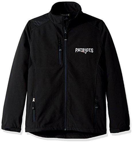 NFL新しいEngland Patriotsメンズソフトシェルジャケット、M、ブラック