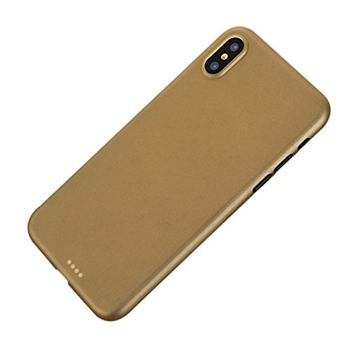 Price comparison product image Mchoice For iPhone X Ultra Thin Slim PP Matte Silicone Case Luxury Protective Back Cover (Gold)