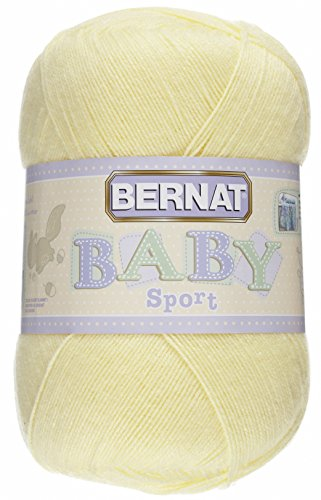 Bernat Big Ball Baby Solid Yarn - (3) Light Gauge 100% Acrylic - 12.3 oz -   Yellow  -  Machine Wash & Dry