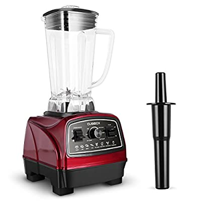 Commercial Professinal Blender, Variable Speed with 1450W(32,000RMP) Powerful Motor, 8 Sharp Blades, TOBOX Heavy Duty Smoothies Blender with 68 oz Pitcher, Red
