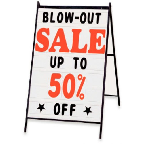 New Retails Deluxe A-Frame Changeable Message Board Sign Kit 24'' x 36'' by Message Board Sign Kit