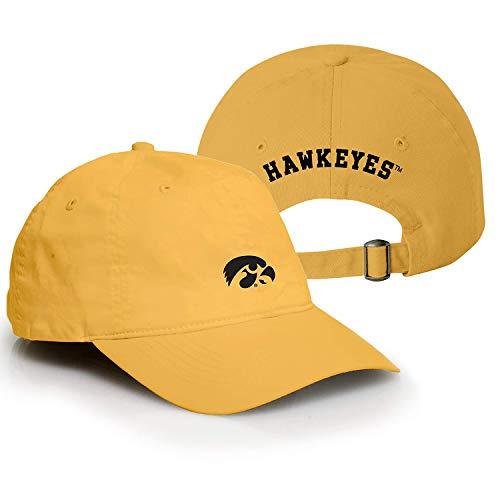 Gold Campus Hat Adjustable - AV31 - Iowa Hawkeyes Primary Logo Vintage Adjustable Hat - OS - Gold