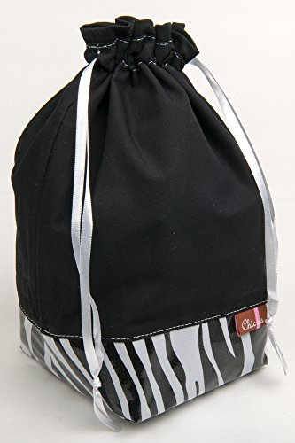 Chic-a Knitting and Crochet Project Bags (Quick Draw, Zebra) - Chic Zebra