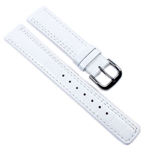 Casio watch strap watchband leather Band White 18mm for LWQ-200LE