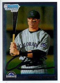 2010 Bowman Chrome Draft Picks Prospects #BDPP47 Russell Wilson 1st Bowman Chrome Baseball Card