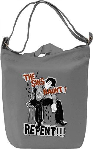 Haunting sins Borsa Giornaliera Canvas Canvas Day Bag| 100% Premium Cotton Canvas| DTG Printing|