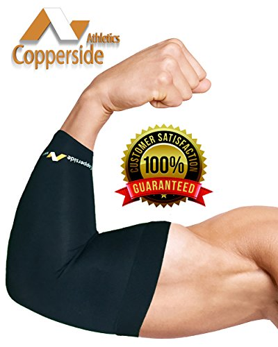20 Pack Copper Elbow Compression Sleeve*Make Money Now!*(Copperside)Retail Bulk Wholesale for Kinesio, Physio Therapy, Chiropractors, Gyms, Free Display Case with Some Purchases. Full Support Provided by Copperside Athletics (Image #2)