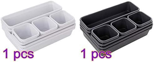 FANMU Organizer Box Tablett, Mehrzweck-Organizer, Schreibtisch-Box, Schublade, Organizer, Tablett, Besteck, Kosmetik, Schreibwaren, Schublade, Trennwände, Küche Badezimmer Schrank Schreibtisch Box