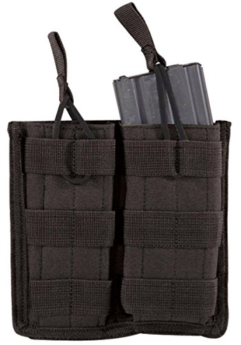 - VooDoo Tactical 20-8585001000 M4/M16 Open Top Mag Pouch With Bungee System, Black, Double